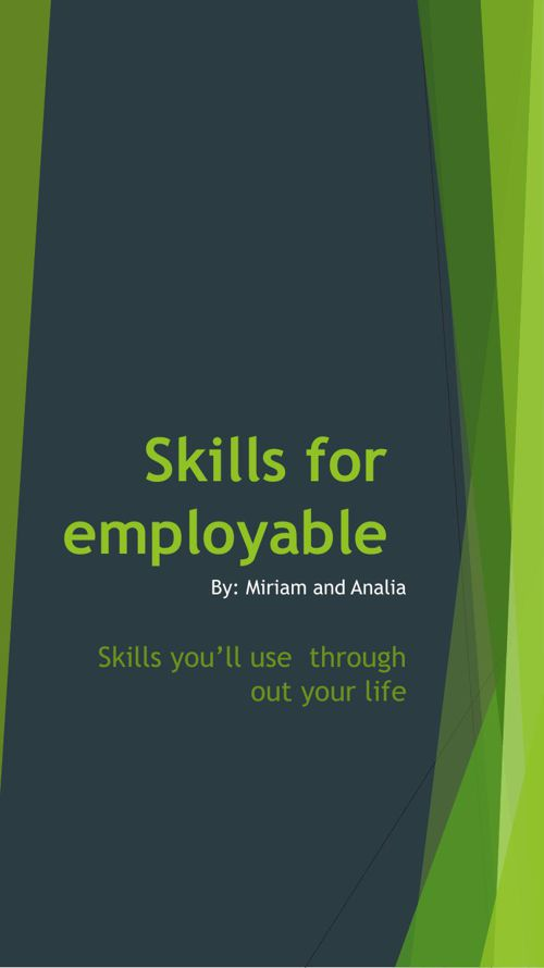 Skills for employable