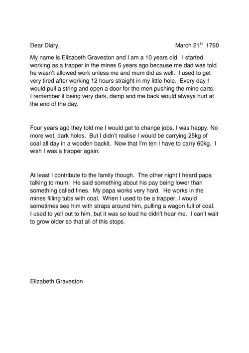 Erika Love 9HI1-diary entries