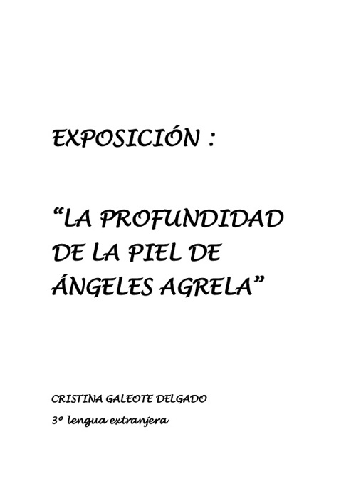 Exposición Angeles Agreles