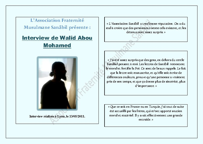Interview Walîd Aboû Mohamed
