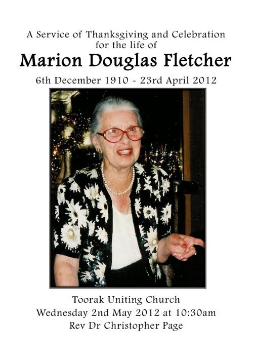 Marion Fletcher