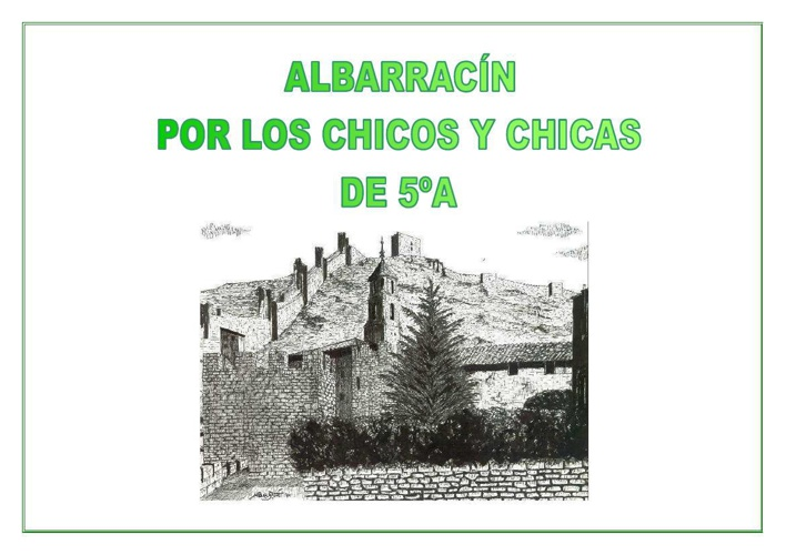 DIBUJOS DE ALBARRACÍN