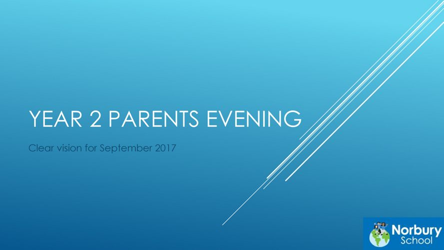 Parents evening presentation new to year 2