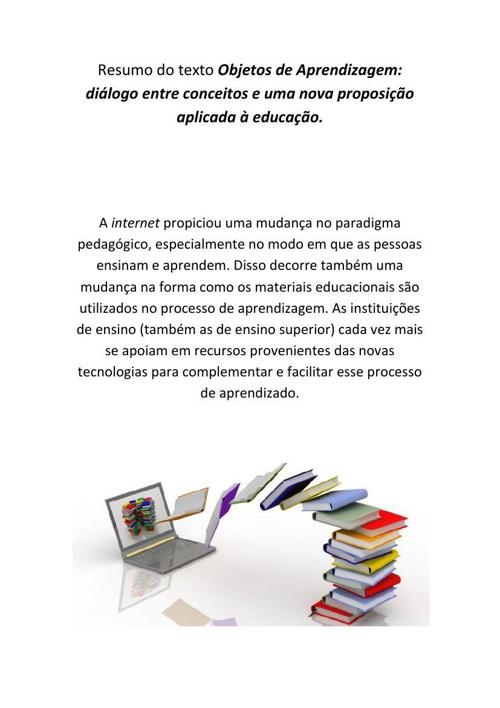Resumo Objetos de Aprendizagem_Ana Carolina Farias