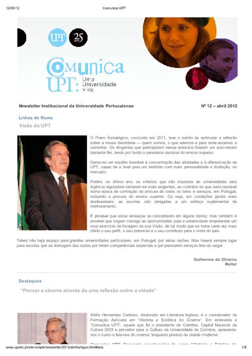 Newsletter Nº12 – abril 2012