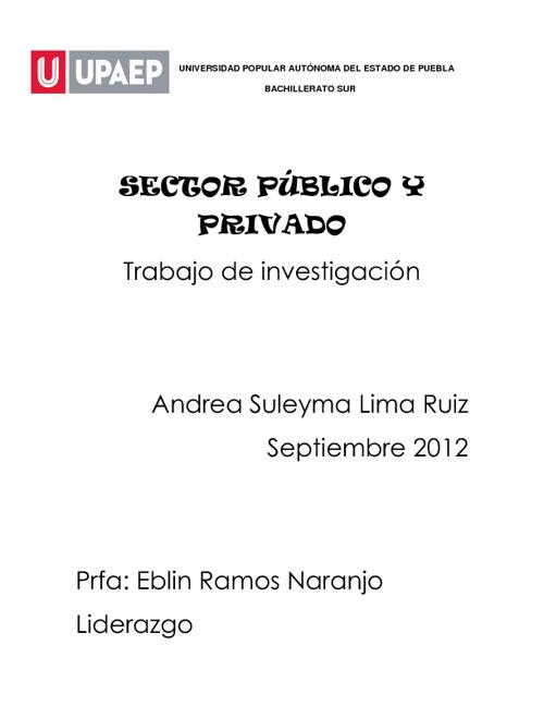 sector público y privado