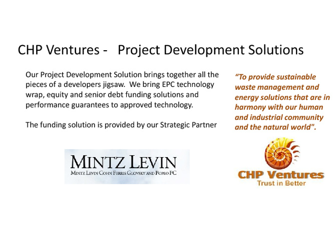 CHP Ventures Project Support - Mintz Levin  Finance