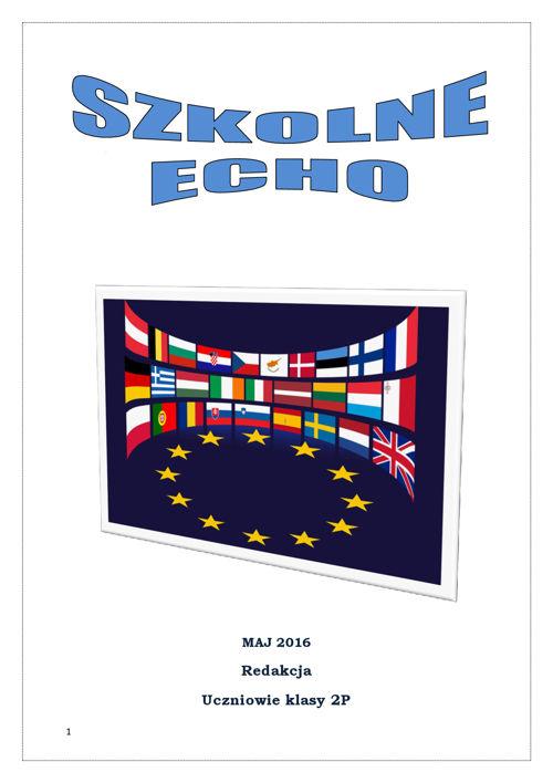 Szkolne Echo- gazetka o UE