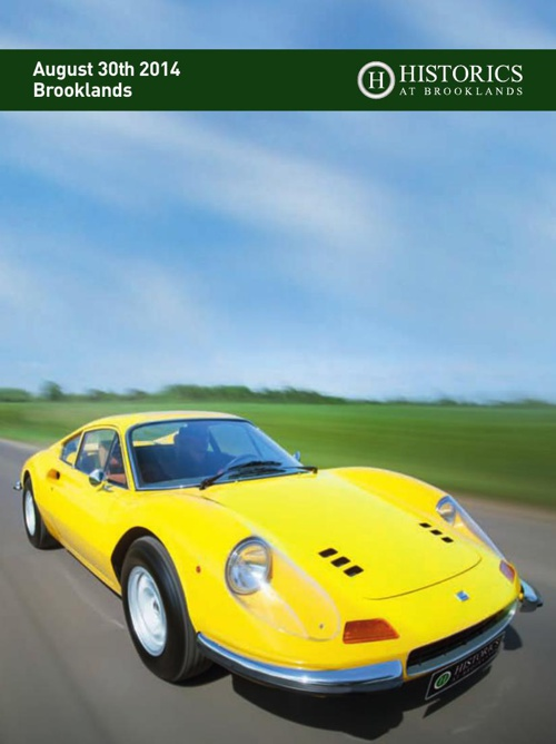 Historics 30th August Auction Catalogue