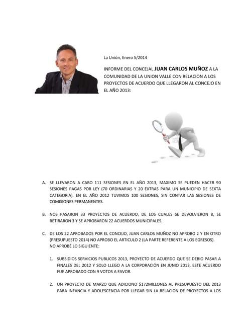 RELACION DE PROYECTOS DE ACUERDO 2013