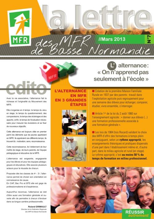 La Lettre des MFR de Basse-Normandie