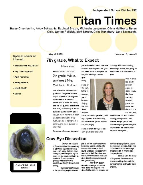 Titan Times-April edition
