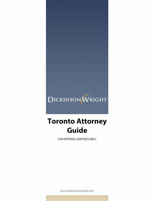 Toronto Attorney Book