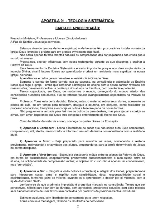 APOSTILA DE TEOLOGIA