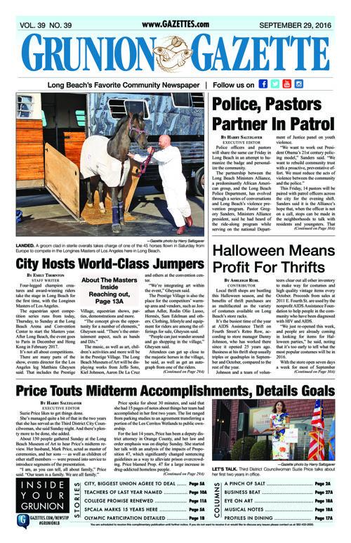 Grunion Gazette | September 29, 2016