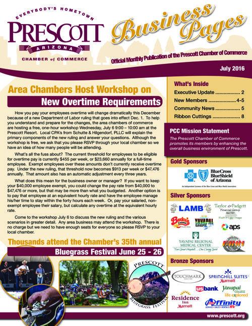 Prescott Chamber 7-16 Newsletter
