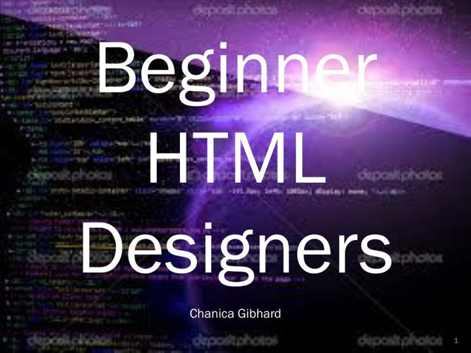 Copy of For Beginner HTML designers!!