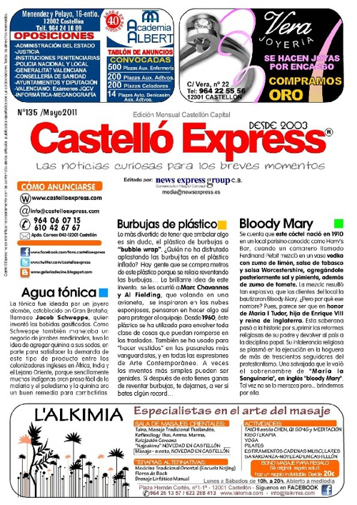 Castelló Express No. 135 Mayo 2011