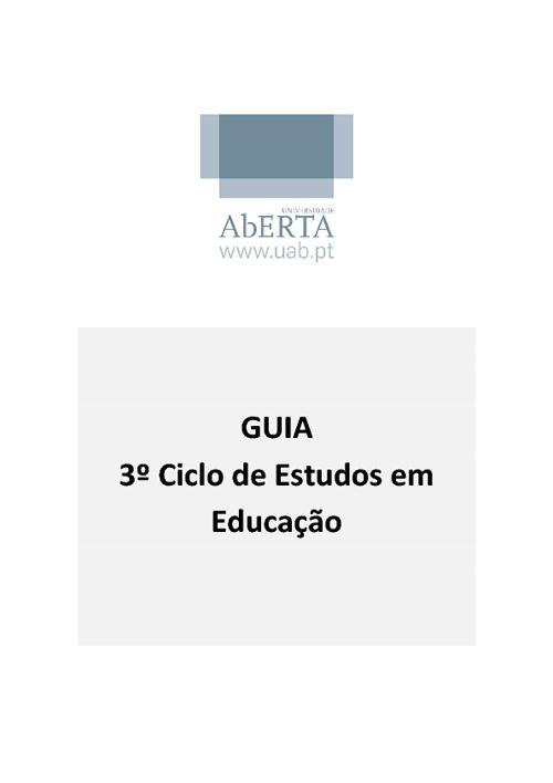 Doutoramento em Educação - 3ª edição