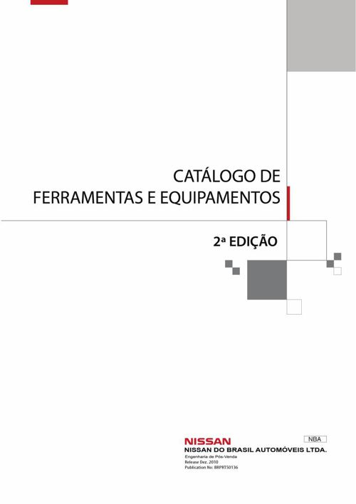 Nissan Catálogo de Ferramentas e Equipamentos