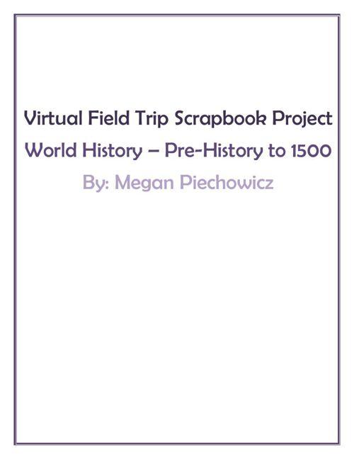 Virtual Field Trip Scrapbook Project