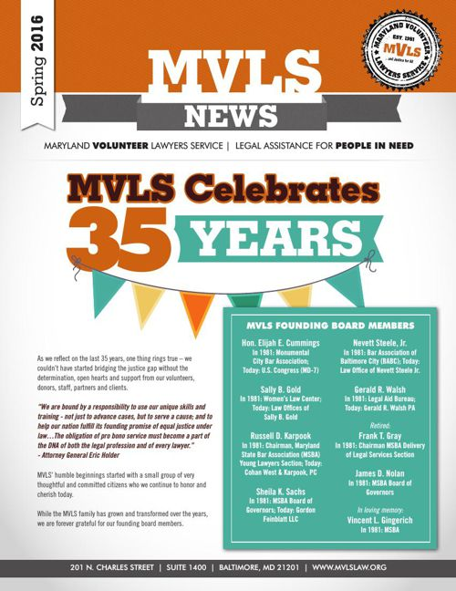 MVLS Winter 2016 Newsletter