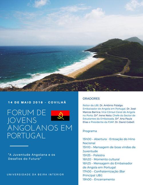 FORUM de jovens Angolanos em Portugal 2016