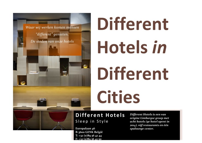 Different Hotels in Different Cities