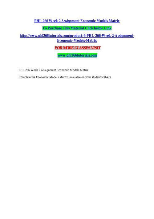 PHL 266 TUTORIALS Learn by Doing/phl266tutorials.com