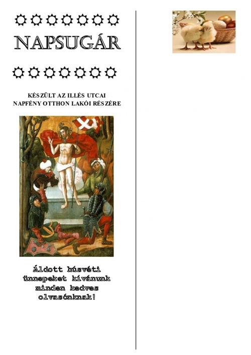 Napsugár újság - 2012 tavaszi szám