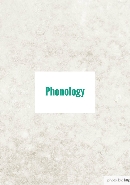 Copy of phonology