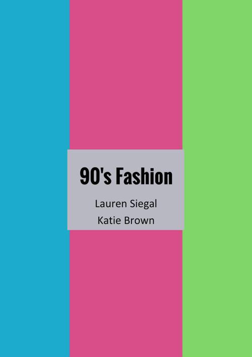 Fashion History project