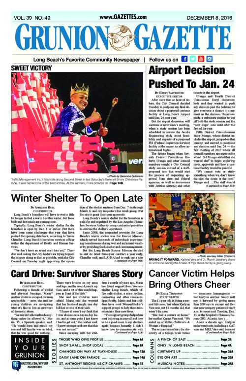 Grunion Gazette  |  December 8, 2016