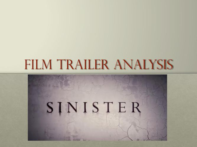 Sinister trailer analysis