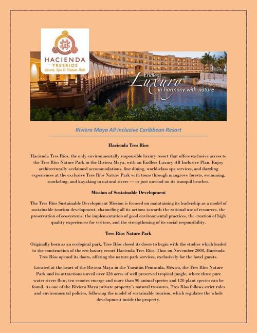 Riviera maya vacation packages