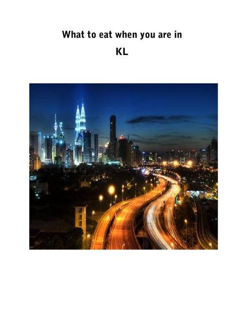 Eatery In Kuala Lumpur