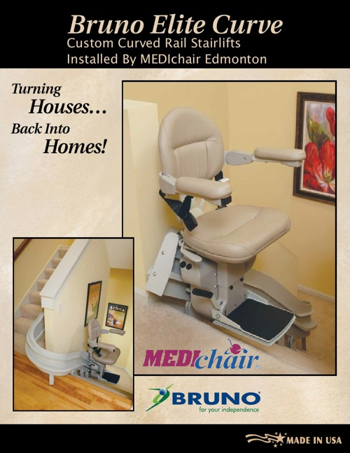 Bruno Curved Stairlift