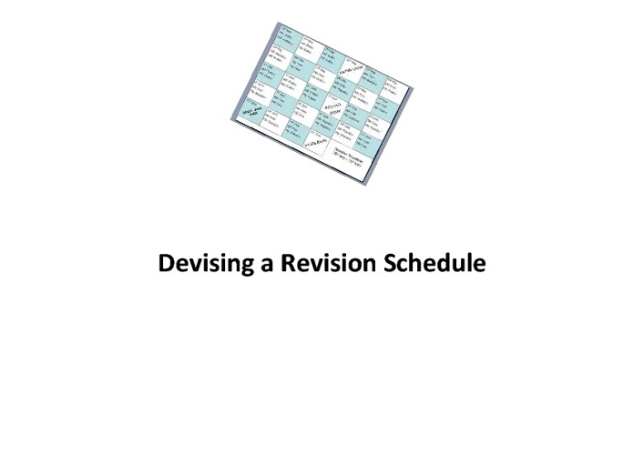 Devising a Revision Schedule
