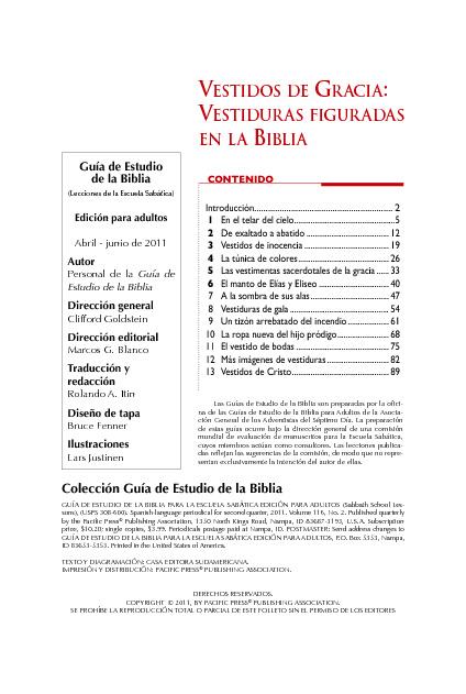 Segundo Trimestre 2011 de la Escuela Sabática _Adultos