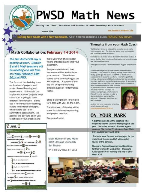 PWSD News January 2014