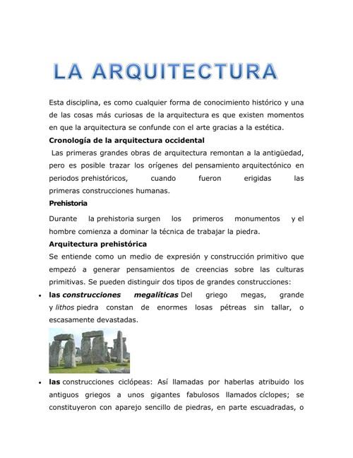 La arquitectura y su definicion