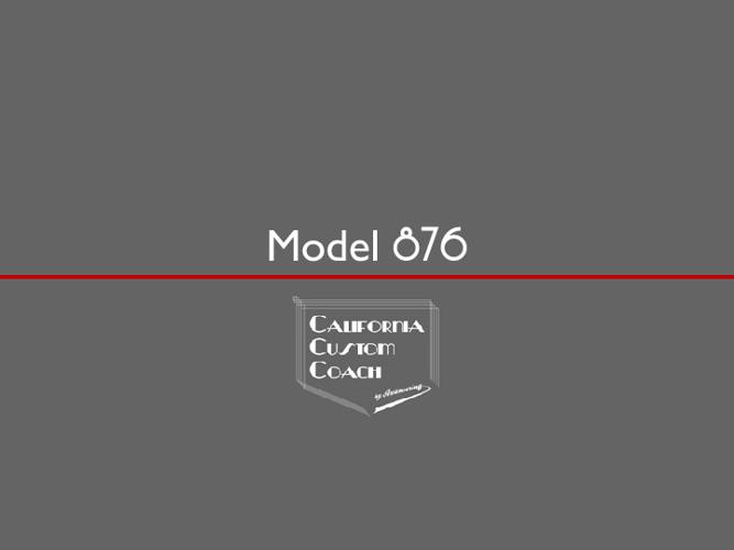 California Custom Coach Model 876