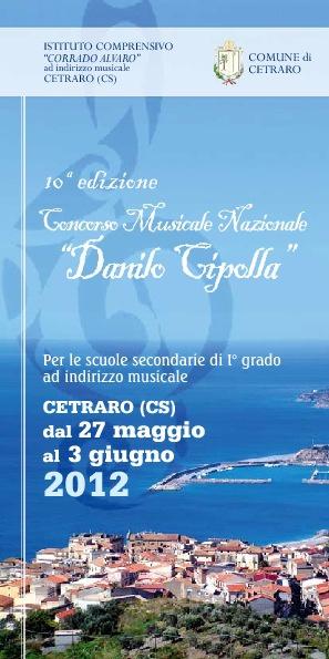 Concorso Musicale Danilo Cipolla: decima edizione - Programma
