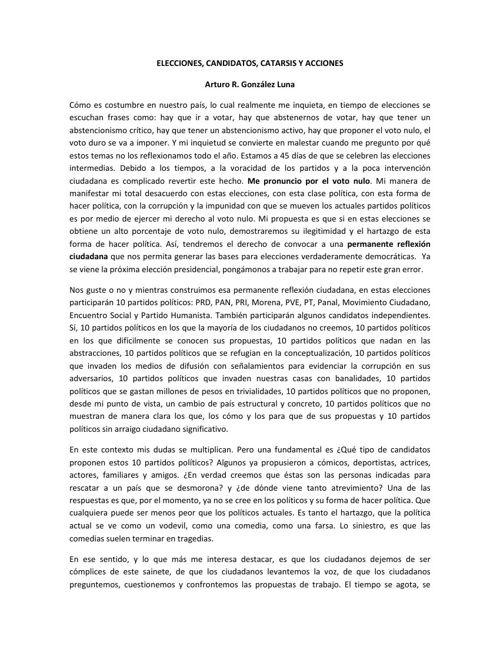 06 Elecciones - candidatos - catarsis y acciones