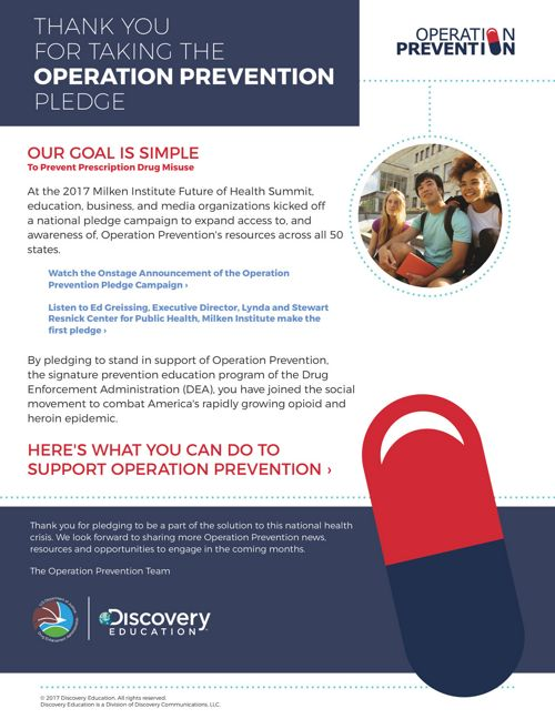 Operation Prevention Pledge Flyer