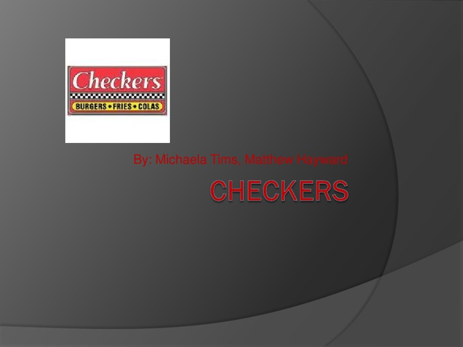 Checkers Presentation