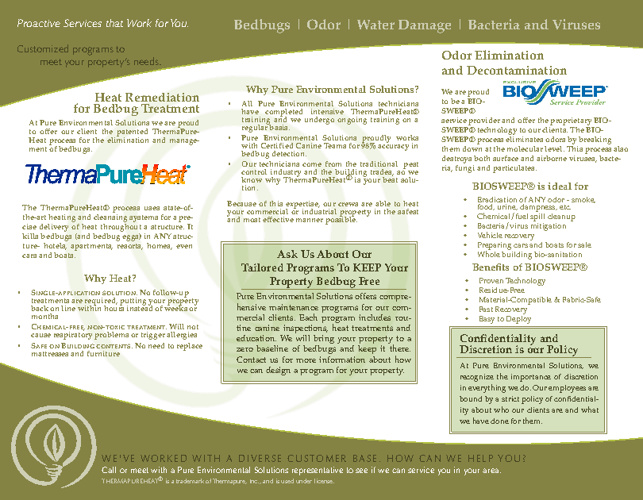 Pure Environmental Solutions Brochure