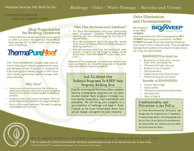 Pure Environmental Solutions Brochure