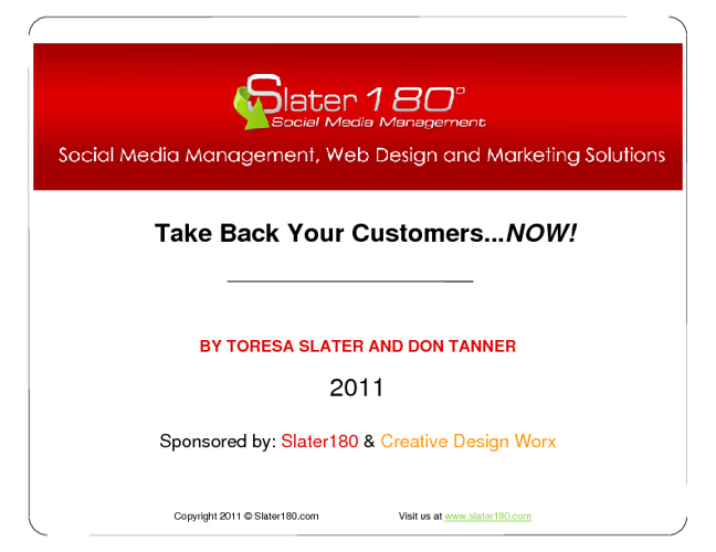 Slater180 | Take Back Your Customers Web