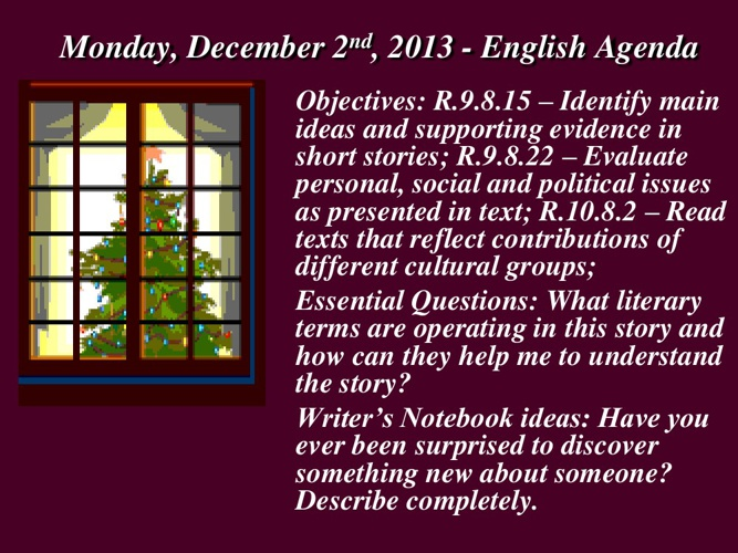 Week 16 - December 2-6, 2013 Powerpoint